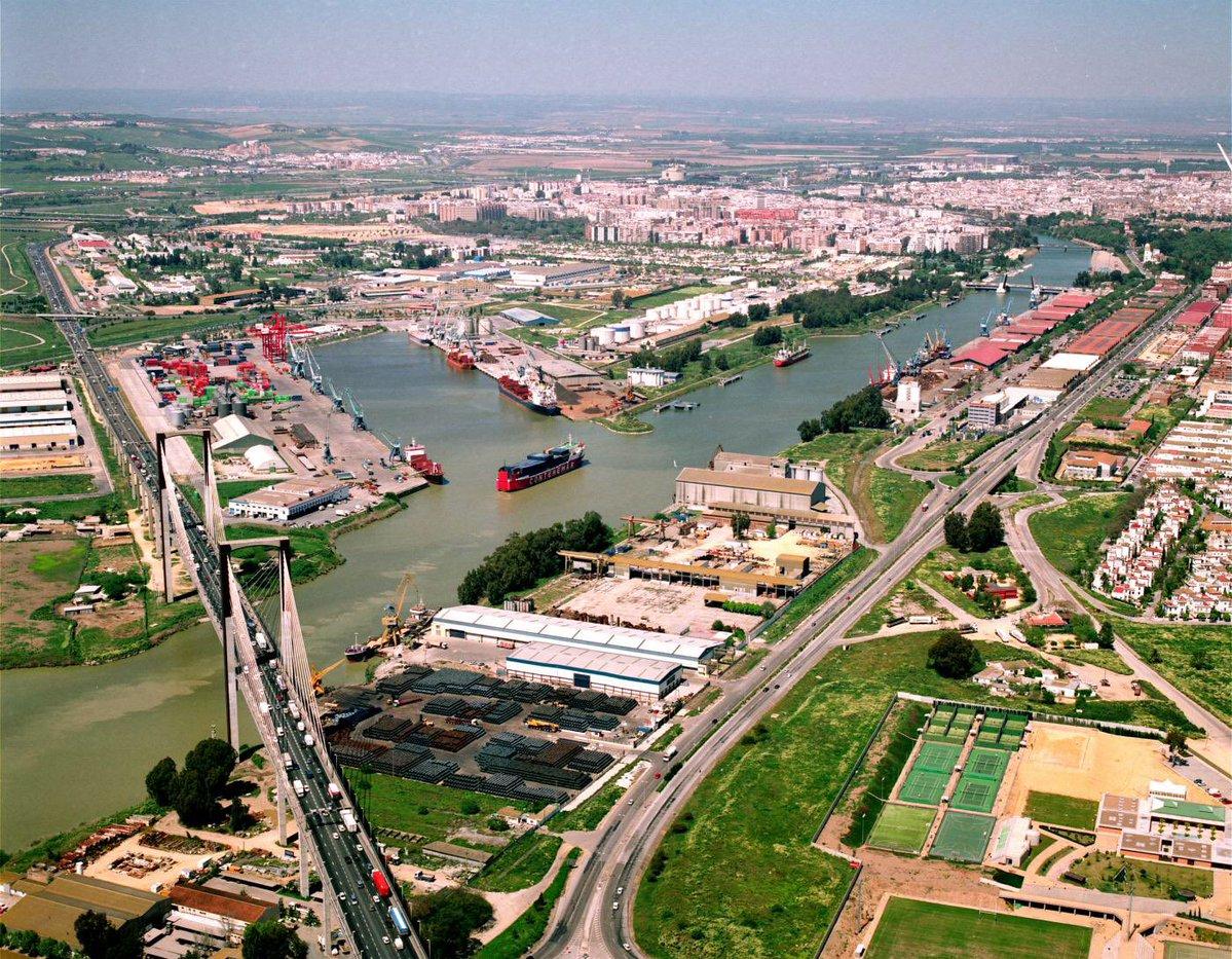Panorámica, puerto de Sevilla