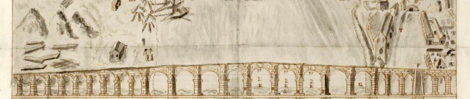 Proyecto puente de piedra de Andrés Ovido 1626