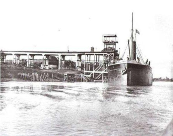embarcadero, minas de Cala
